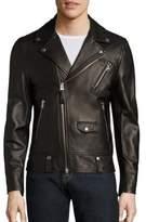 Mackage Asymmetrical Zip Leather Jacket