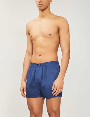 Derek Rose Woburn classic-fit silk boxers