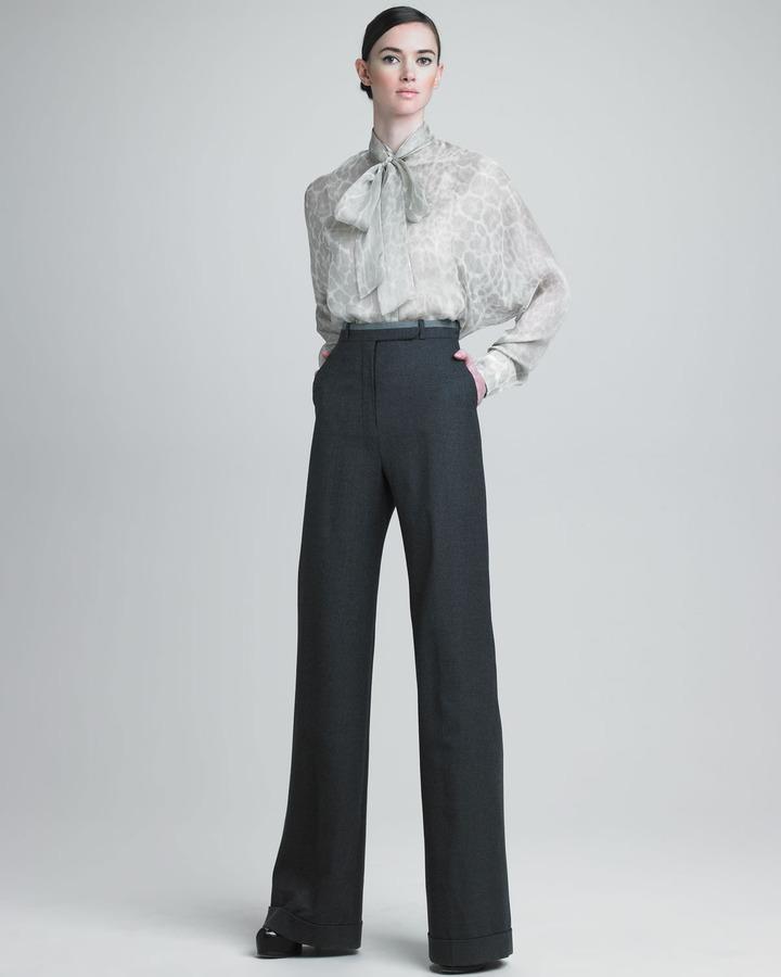 Yves Saint Laurent High-Waist Wide-Leg Pants
