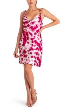 Q & A Tie-Dyed Cowlneck Dress