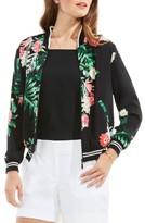 Vince Camuto Women's Havana Tropical Bomber Jacket