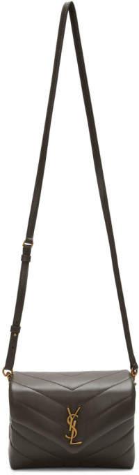 Saint Laurent Grey Toy Loulou Bag