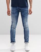 Replay Jondrill Skinny Jeans Super Stretch Mid Vintage Wash
