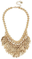 Betsey Johnson Angels And Wings Feathered Bib Necklace