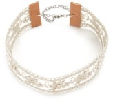 Chan Luu Chanluu Embellished Lace Choker In White