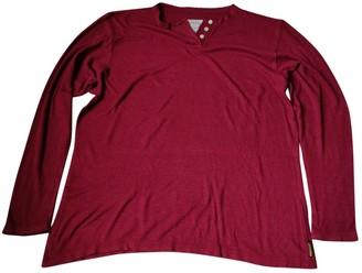 Armani Jeans Burgundy Cotton Top for Women