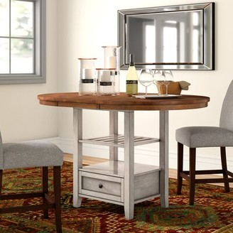 Three Posts Acker Counter Height Extendable Dining Table Base Color: Antique White