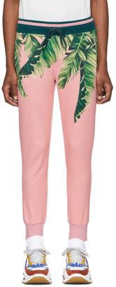 Dolce & Gabbana Pink Floral Lounge Pants