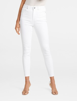 Forever New Bella Petite High-Rise Sculpting Jeans - White - 4