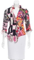 Christian Lacroix Abstract Button-Up Top