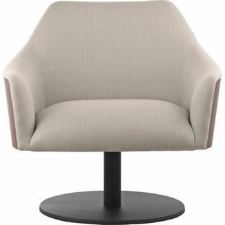 Modloft Black Henry Swivel Armchair Black Upholstery: Oxford Tan/Walnut