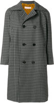 Marni checked double breasted coat