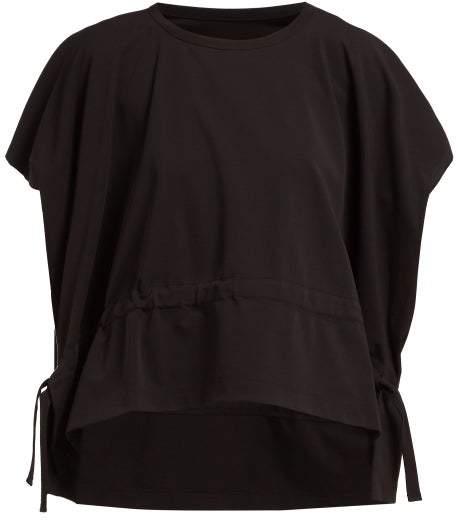 Issey Miyake Drawstring Cotton Jersey T Shirt - Womens - Black