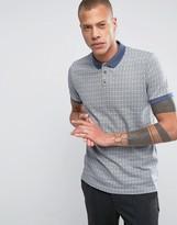 Bellfield Polo Shirt In Jacquard Pattern