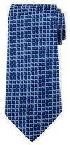 Armani Collezioni 3D Box-Print Silk Tie, Blue/Light Blue
