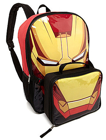 Iron Man Ironman Backpack with Lunch Box