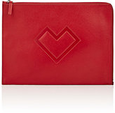 Barneys New York WOMEN'S LARGE ZIP POUCH-RED