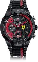 Ferrari RedRev Evo Black and Red Stainless Steel Case and Silicone Strap Men's Chrono Watch
