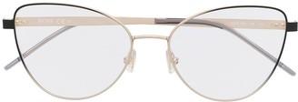 HUGO BOSS Cat-Eye Wire-Frame Eyeglasses