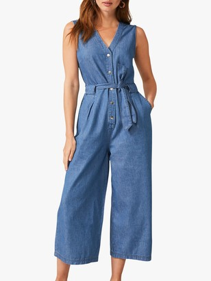 Phase Eight Everly Jumpsuit, Chambray