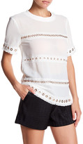 Endless Rose Stud and Lace Trim Blouse
