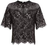 Sandro Embroidered Lace Top
