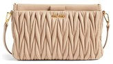 Miu Miu Small Matelasse Leather Clutch - Beige