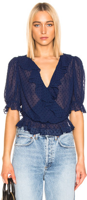 Icons Objects of Devotion Cha Cha Blouse in Bright Navy   FWRD