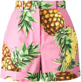 Dolce & Gabbana pineapple print shorts - women - Cotton - 38