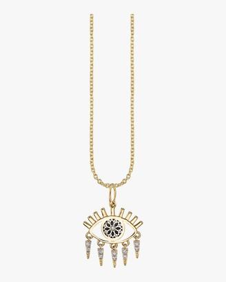 Sydney Evan Evil Eye Fringe Charm Necklace