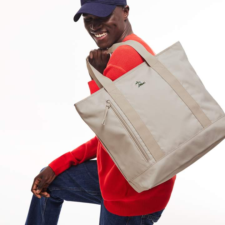 Lacoste Men's Neocroc Vertical Canvas Tote Bag