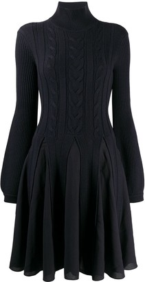 Emporio Armani Cable Knit Layered Dress