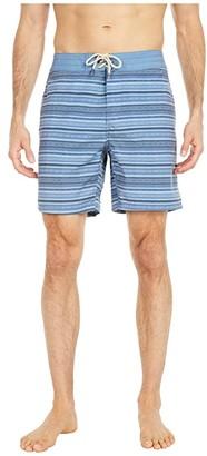 Faherty Classic 7 Boardshorts (Blue Falls Ikat) Men's Swimwear