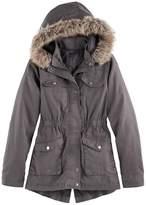 SO Girls 7-16 SO® Midweight Faux-Fur Trim Anorak Jacket