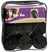 Hype Hair Satin Covered Foam Rollers Black