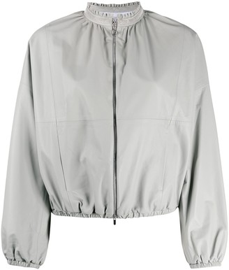 Fabiana Filippi Rhinestone Collar Bomber Jacket