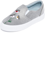 Chiara Ferragni Eye Flowers Slip On Sneakers