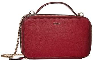 Furla Babylon Medium Crossbody (Onyx) Handbags