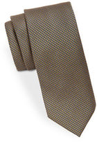 Black Brown 1826 Narrow Silk PinDot Tie