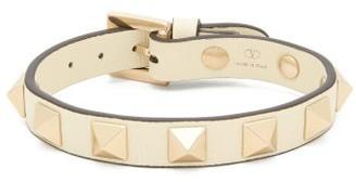 Valentino Rockstud Leather Bracelet - Ivory