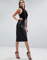 Asos Leather Skirt With High Waist Corset Detail