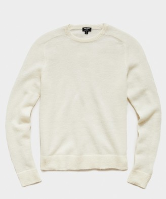 Todd Snyder Brushed Italian Mohair Wool Sweater in Ivory