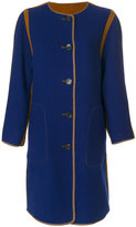 Etro reversible collarless coat
