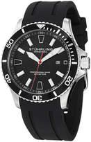 Stuhrling Original Mens Black Strap Watch-Sp12958