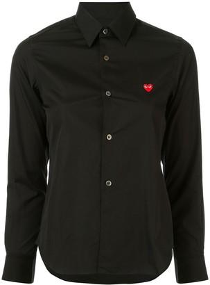Comme des Garcons Logo Embroidered Plain Shirt