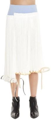 Loewe Asymmetric Deconstructed Pleated Skirt