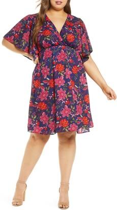 Kiyonna Florence Flutter Sleeve Dress