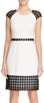 Laundry by Shelli Segal Contrast Lace A-Line Dress