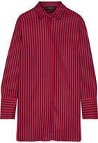 By Malene Birger Frincamma Striped Stretch-cotton Shirt - Red