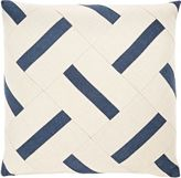 Dransfield and Ross Indoor/Outdoor Diamond-Panel Pillow-WHITE